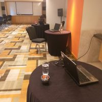 conference room black tables