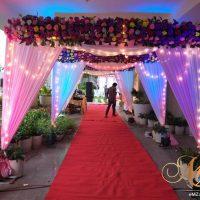 grand entrance, wedding entrance, flowers, lightning