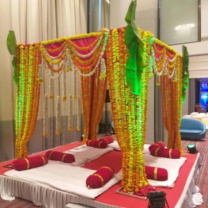 wedding mandap, leaf mandap, indian traditional wedding, wedding planners, event management company