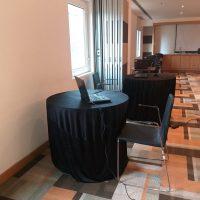 office appliances, laptop, table, interview