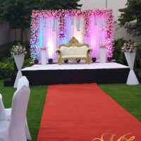 wedding stage, wedding backdrop, wedding decorations, wedding planners, red carpet