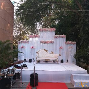 white backdrop, wedding decoration, wedding planner, event management company, musical