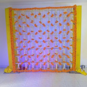 wedding backdrop, wedding decorations, mehndi ceremony, sangeet ceremony decoration