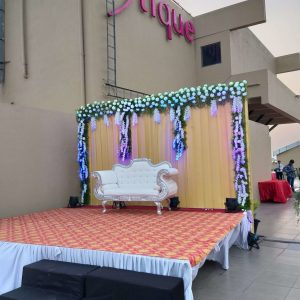 wedding stage, backdrop ideas, outdoor receptions, wedding planners, event management company