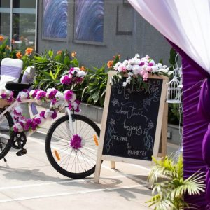wedding cycle, wedding decoration, purple white decoration, event management company, simple decoration