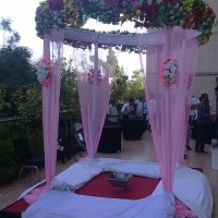 wedding mandap, pink mandap, indian traditional wedding, wedding planners, event management company
